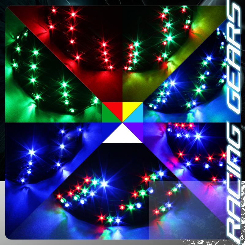 24 034 x36 034 7 color neon led strip underbody underglow black wireless remote kit ebay - Underglow neon ...