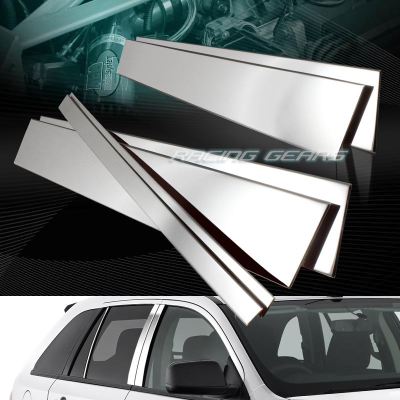 For Lincoln Mkx Ford Edge Stainless Mirror Chrome Door Pillar Post Cover 6 Pcs Ebay