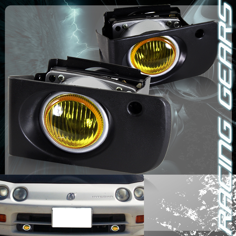 1994-2001 Acura Integra 2/4 Door JDM Yellow Lense Fog