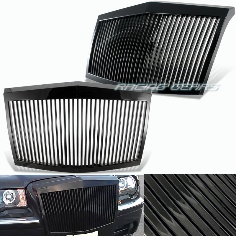 2005 2010 Chrysler 300 300c Shinny Black Vertical Front: For 05-10 Chrysler 300 300C Rolls Royce Phantom Style