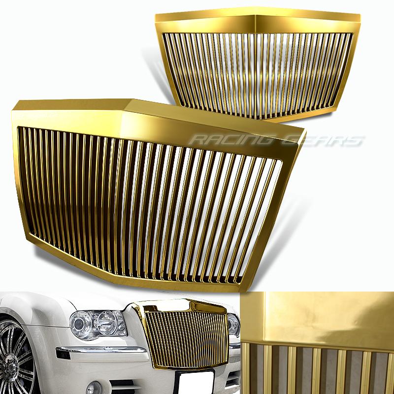 2005 2010 Chrysler 300 300c Shinny Black Vertical Front: 05-10 Chrysler 300/300C Rolls Royce Phantom Style Front