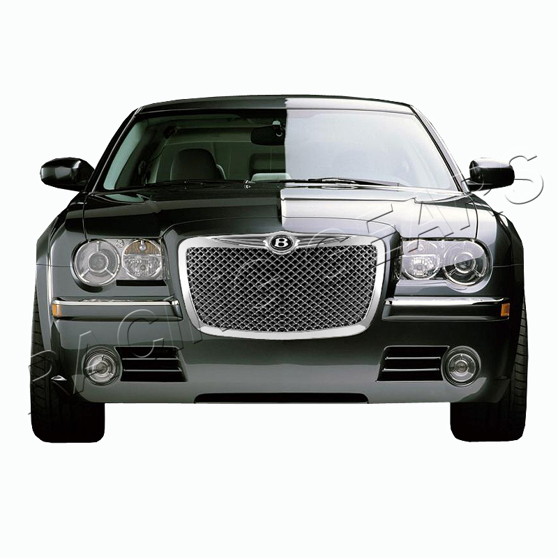 buy for 05 10 chrysler 300 300c front chrome mesh hood. Black Bedroom Furniture Sets. Home Design Ideas