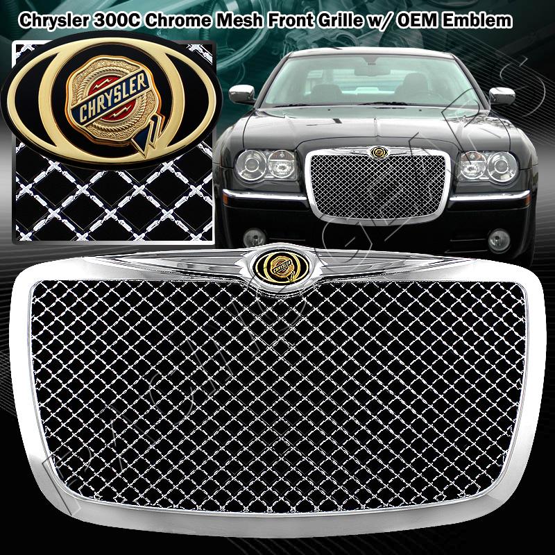 2005 2006 2007 2008 2009 2010 Chrysler 300 300c Black Mesh: 2005-2010 Chrysler 300/300C AWD SRT8 Chrome Mesh Front