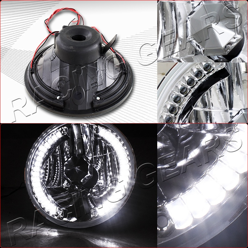 Buick 7 Quot Round H6024 Sealed Beam Replacement 36 White Led