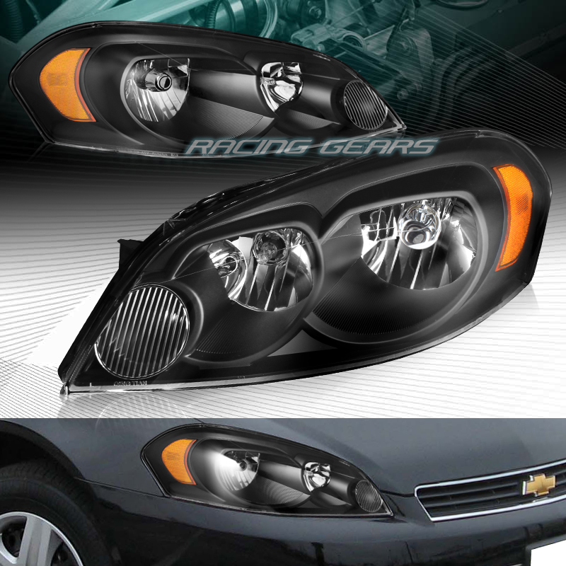 Image Is Loading Black Amber Reflector Headlights Lamps Fit 06 13