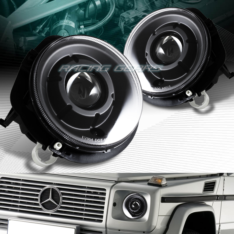 Black housing projector headlights fit 02 06 mercedes benz for Mercedes benz projector lights