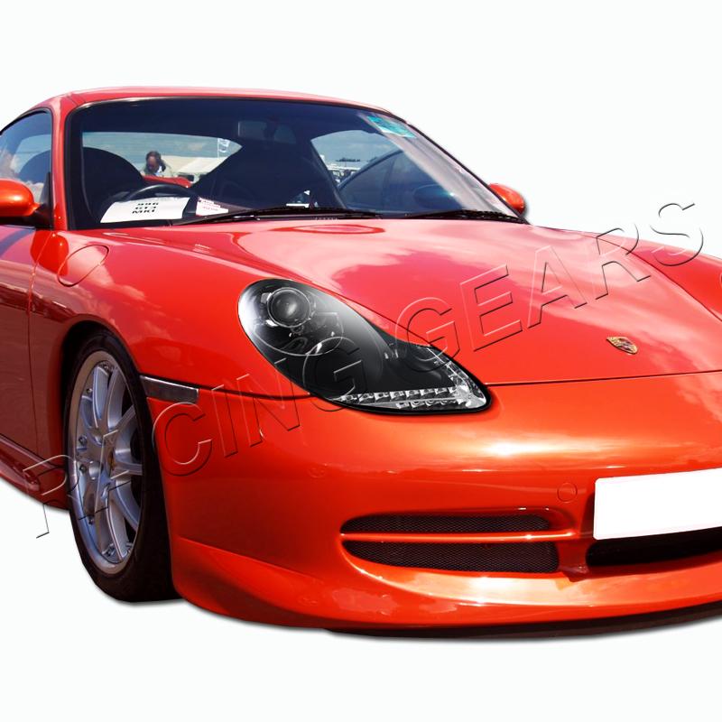Porsche 996 Headlamp Bulb: 97-04 Porsche Boxster 98-01 911 Black Housing LED DRL