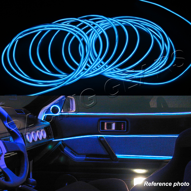 for acura honda neon 12v blue led electroluminescent el wire flexible glow rope ebay. Black Bedroom Furniture Sets. Home Design Ideas
