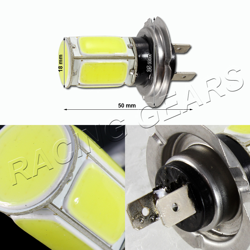 2x mercedes benz h7 white 6 led cob chipset 12v high low for Mercedes benz low beam bulb