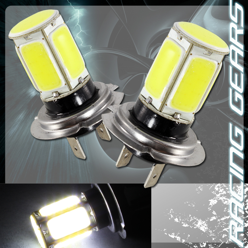 2x mercedes benz h7 white 6 led cob chipset 12v high low for Mercedes benz light bulb replacement