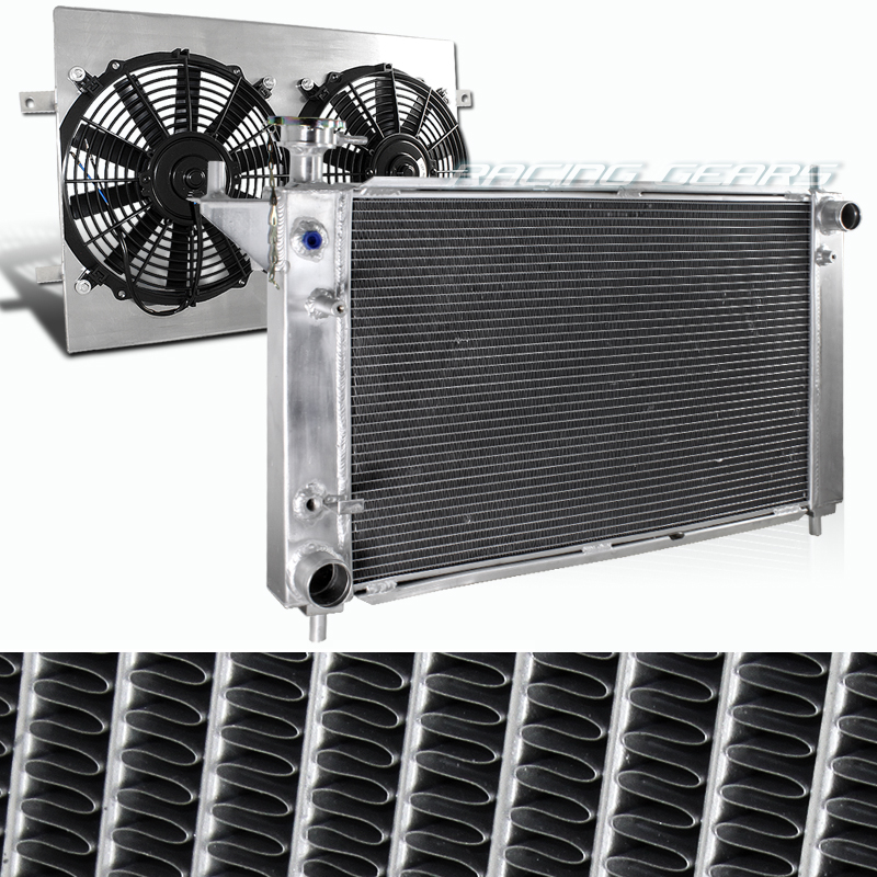 3 Row Aluminum Radiator Shroud Fan For Ford Mustang Svo: 94-95 Ford Mustang Automatic Transmission Aluminum 3 Core