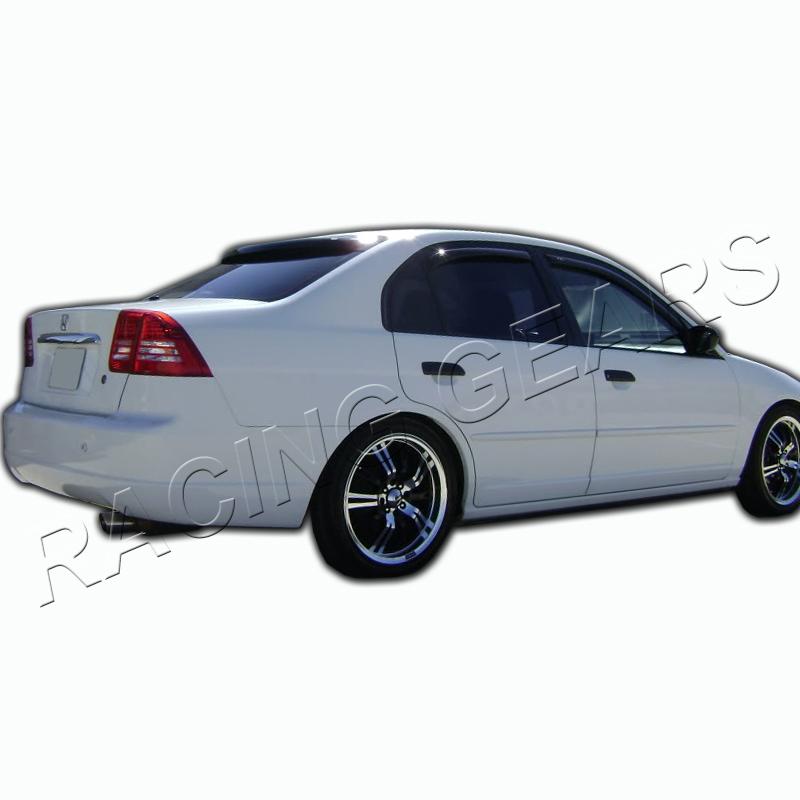 For 01 05 honda civic sedan black rear roof window for 2001 honda civic rear window visor