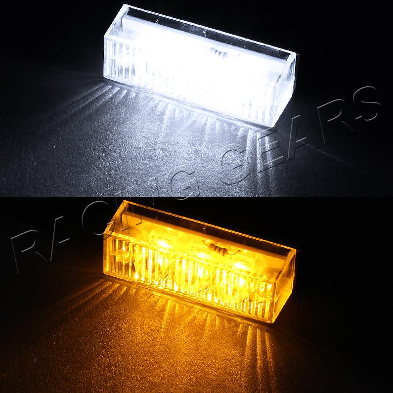 18 amber white led emergency hazard warning flash strobe light bar kit. Black Bedroom Furniture Sets. Home Design Ideas