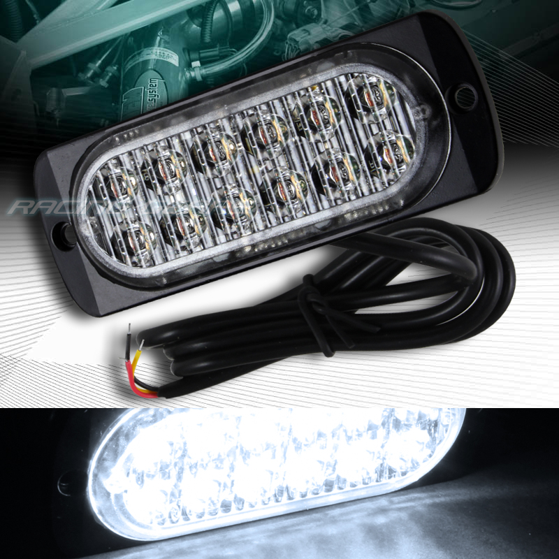 car truck emergency beacon hazard warning flash strobe light bar white. Black Bedroom Furniture Sets. Home Design Ideas