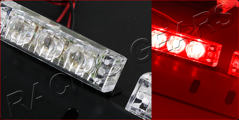18 led red car truck suv emergency hazard warning flash strobe light bar kit ebay. Black Bedroom Furniture Sets. Home Design Ideas