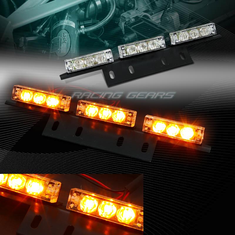 18 led amber car emergency hazard warning flash strobe. Black Bedroom Furniture Sets. Home Design Ideas