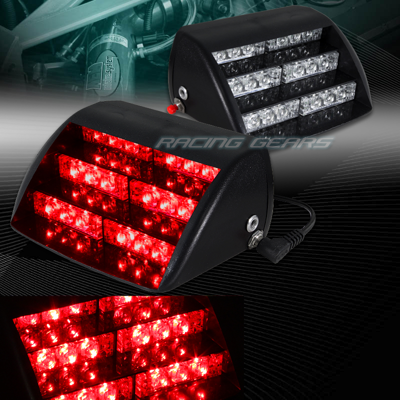 18 led red car truck emergency warning dashboard interior flash strobe light ebay. Black Bedroom Furniture Sets. Home Design Ideas