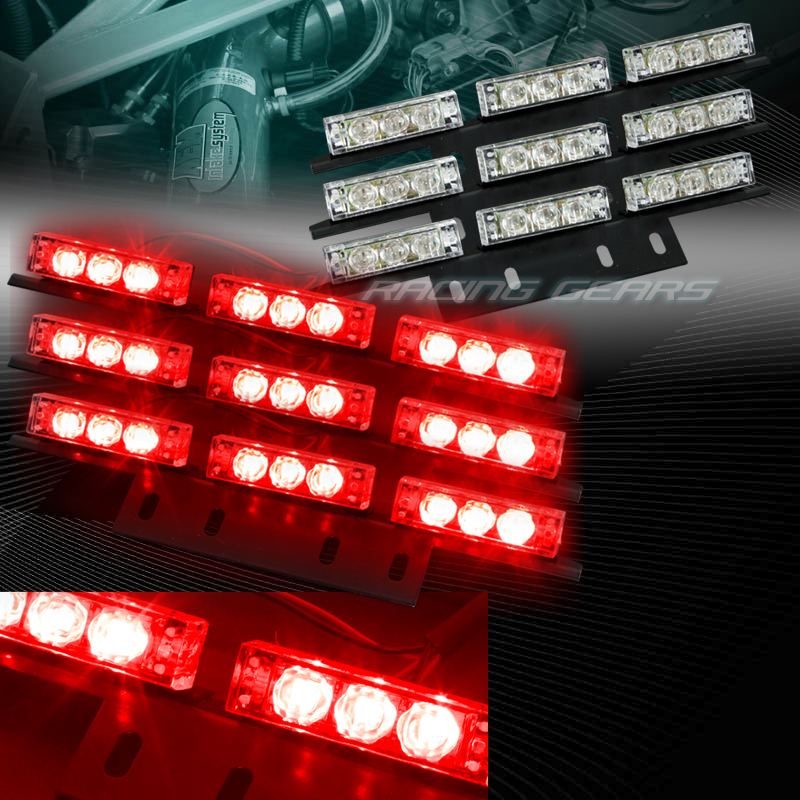 54 led red car truck suv emergency hazard warning flash strobe light bar kit ebay. Black Bedroom Furniture Sets. Home Design Ideas